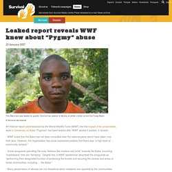 "Leaked report reveals WWF knew about ""Pygmy"" abuse"