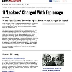 "11 ""Leakers"" Charged With Espionage"