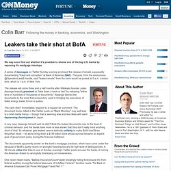 Leakers take their shot at BofA - Street Sweep: Fortune's Wall Street Blog