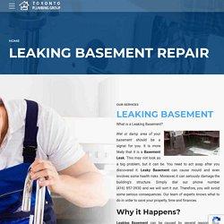 Leaking Basement Repair Toronto