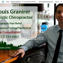 Contact Dr. Louis Granirer for Leaky Gut Remedies