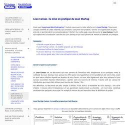 Lean Canvas : la mise en pratique du Lean Startup