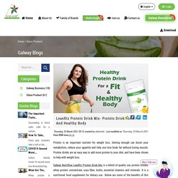 Leanfitz Protein Drink Mix- Protein Drink For A Fit And Healthy Body
