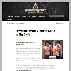 The Guide: Using IF / Leangains to Get Ripped | RippedBody.jp