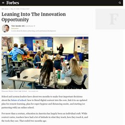 Leaning Into The Innovation Opportunity