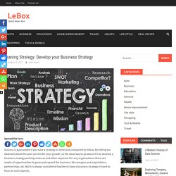 Leaning Strategy: Develop your Business Strategy