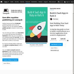 Self-publish your in-progress book for great royalties on Leanpub