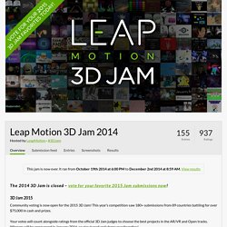 Leap Motion 3D Jam 2014