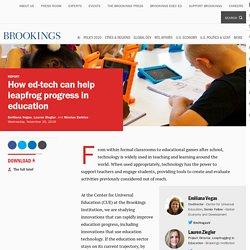How ed-tech can help leapfrog progress in education