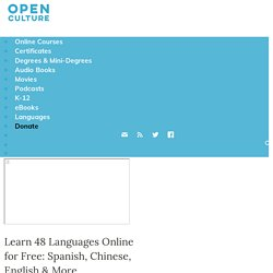 Learn 46 Languages Online for Free: Spanish, English & More