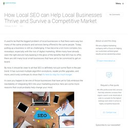 How Local SEO can Help Local Businesses Thrive and Survive a Competitive Market