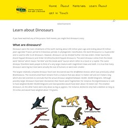 Learn about Dinosaurs - Science for Kids