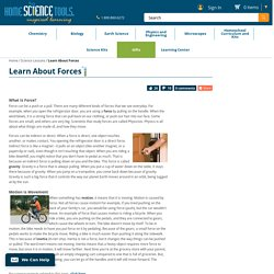 Learn About Forces