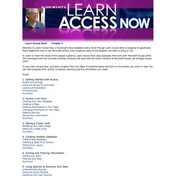 Learn Access Now!