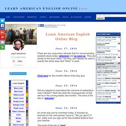 Learn American English Online blog