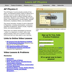 Learn AP Physics - Physics C