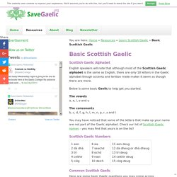 Learn Some Basic Scottish Gaelic