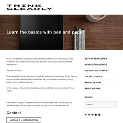 Learn the basics with pen and paper