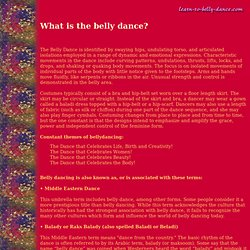 styles and other names for belly dance