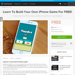 Learn To Build Your Own iPhone Game For FREE!
