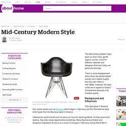 Learn About Mid-Century Modern Style Furniture