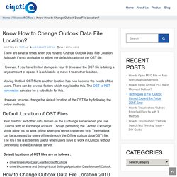 Learn How to Change Outlook Data File Location - DIY Guide