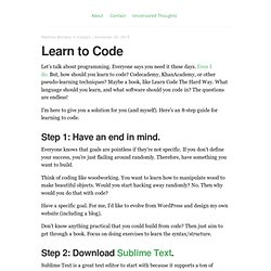 Learn to Code – Radhika Morabia