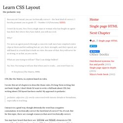 Learn CSS Layout The Pedantic Way