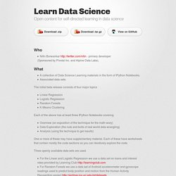 Learn Data Science by nborwankar
