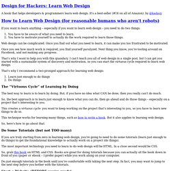 """Learn Web Design: How to Start the """"Virtuous Cycle"""""""
