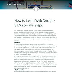How to Learn Web Design - 8 Must-Have Steps
