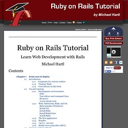Ruby on Rails Tutorial: Learn Rails by Example book and screencasts by Michael Hartl