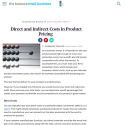 Learn About Direct and Indirect Costs in Pricing
