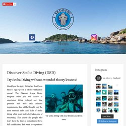 Discover Scuba Diving - Dive Center Thailand