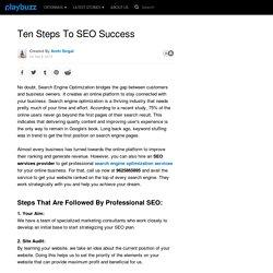 Learn Easy Ten Steps To SEO Success