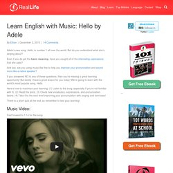 Learn English with Music: Hello by Adele
