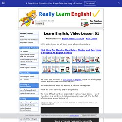 Learn English Video – Lesson 01