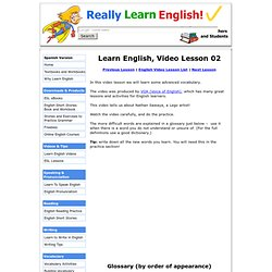 Learn English Video – Lesson 02