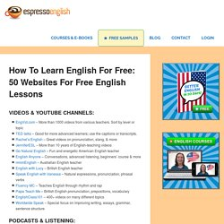 How to learn English for free: 50 websites for free English lessons – Espresso English