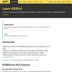 Learn ES2015 · Babel