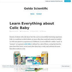Learn Everything about Colic Baby – Gelda Scientific