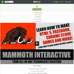 Learn how to make HTML 5, Facebook, Chrome Store games and more! by John Bura
