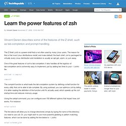 Learn the power features of zsh