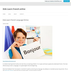 Kids Learn French Language Online