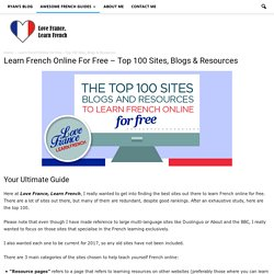 Learn French Online For Free - Top 100 Sites and Resources