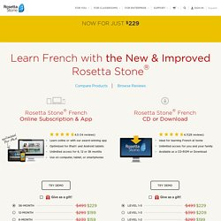 Learn French - Rosetta Stone® - Best Way to Learn French!