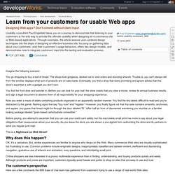 Learn from your customers for usable Web apps