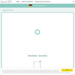 Learn German online - Free German lessons - Speak German