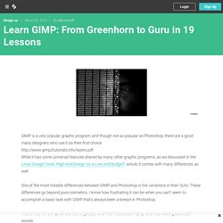 Learn GIMP: From Greenhorn to Guru in 19 Lessons