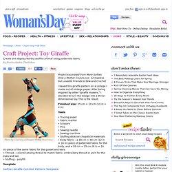 Softies Giraffe Cut-Out Pattern Template - cubeggett
